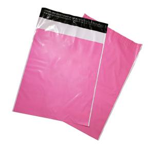 Kurjeriniai vokai 350 x 450 + 50mm, rožiniai su baltais kraštais