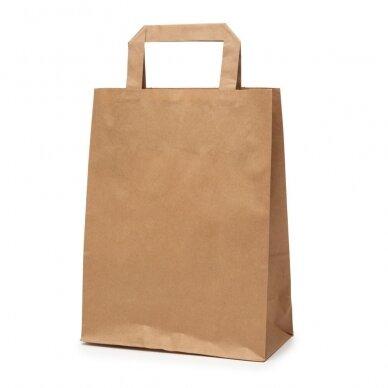 Popieriniai maišeliai Flat tipo 220x100x280, rudas