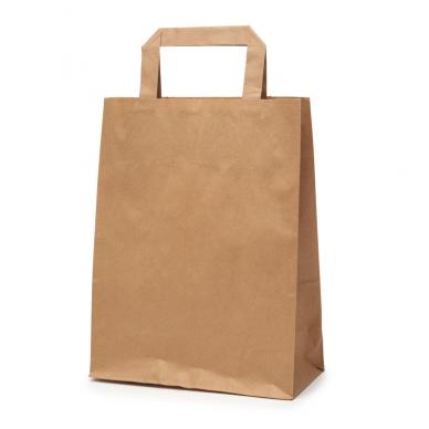 Popieriniai maišeliai Flat tipo 260x120x350, rudi